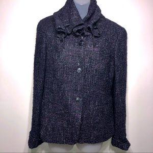 Lafayette 148 Tweed Button Down Jacket Size 8